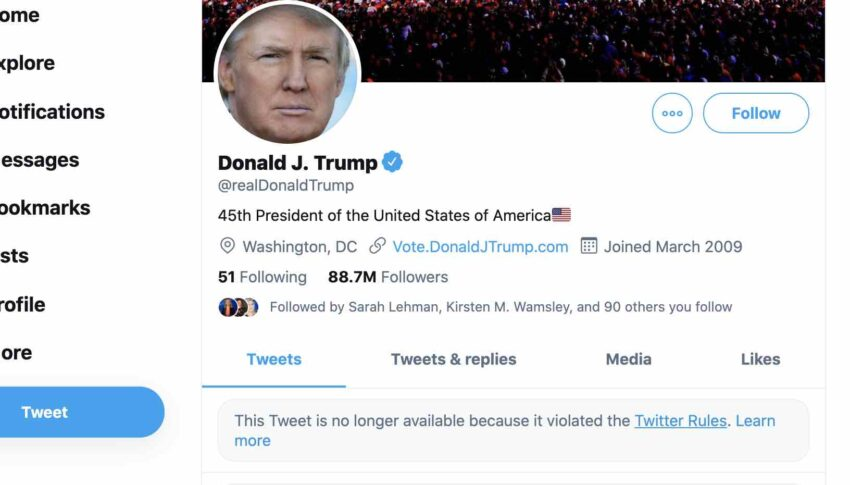 Donald Trump Twitter Account Gets Deleted